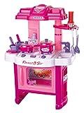 Brigamo 472 - Spielzeug Kinderküche, SpielKüche mit Kochgeschirr, inkl. Licht und Kochgeräuschen,Mädchen Spielzeug
