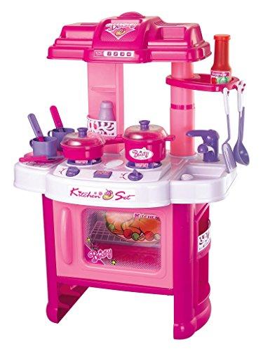 *Brigamo 472 – Spielzeug Kinderküche, SpielKüche mit Kochgeschirr, inkl. Licht und Kochgeräuschen,Mädchen Spielzeug*