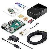 ABOX Raspberry Pi 3 Modèle B Plus (3B+) Starter Kit【2018 Version Dernière】 32 Go Classe 10 SanDisk Micro SD Carte, 2.5A Interrupteur Marche/Arrêt Alimentation Boîtier Noir