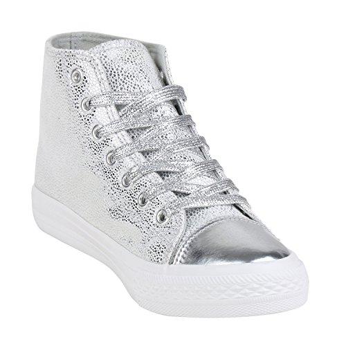 Napoli-fashion - Silber Lack - Bottines Pour Dames