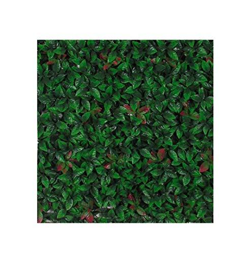 Verdevip Photinia Fotinia Siepe Artificiale Finta per Balcone Recinzione - 01 Mattonella 98x98 cm (1 mq circa) - da Esterno Resistente Ai Raggi U.V. Certificato TUV