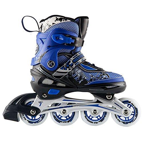 blau Inlineskating Kinder Inliner und Schlittschuhe 2 in 1 Größe verstellbar 27-30 Skater