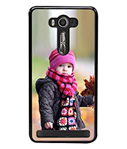 PrintVisa Designer Back Case Cover for Asus Zenfone 2 Laser ZE500KL (5 Inches) (Kid Beautiful Happy Young Smile Fair Childhood Outside Pretty Daughter)