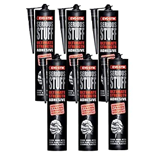 6 x Evo-Stik Serious Stuff Ultimate Strength Waterproof Glue Adhesive Sealer - 290g
