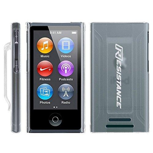 l, Widerstand, Schutzhülle mit Metallic-Finish und Integriertem Gürtel Clip für iPod Nano 7(7. Generation), Farblos ()
