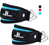 Pair of Premium Quality Ankle Straps For Cable Machines- Best Ankle Cuff For Leg Workout Equipment - Cuffs For Leg Exercise And Workout Machine - Ideal Ankle Cable Straps For Men And Women (Turquoise)