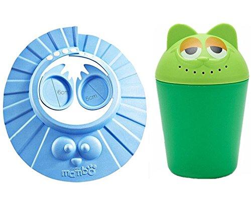 Baby Zu Halten Das Wasser Aus Den Augen Und Gesichtsschutz Dusche Badekappe Sichere Shampoo-Hut F/ür Kleinkind blau