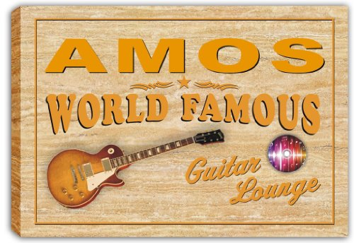 scpf1-0469-amos-world-famous-guitar-lounge-stretched-canvas-print-sign