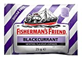 Fisherman's Friend Blackcurrant Menthol Flavour Lozenges with Sweeteners 25g (Pack of 24)