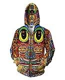 Haroty Herren Hoodie Sweatshirt 3D Druck Comic Young Fashion Sportjacke Herbst Frühjahr Collegejacke Langarm Kapuzenpullover (Mehrfarbig, XL)
