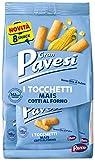 Gran Pavesi Snack Tocchetti, Snack al Mais Cotti al Forno, Senza Olio di Palma - 8 Pacchetti (256 g)