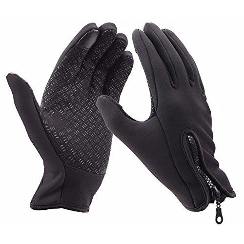 Winter-Handschuhe Touchscreen-kompatibel winddicht wasserdicht legere Ski-/Outdoor-/Radfahr-Handschuhe, ideal zum Camping, Wandern, Thermoisolierte Vollfinger-Handschuhe, Multifunktionale Handschuhe für Männer & Frauen, M