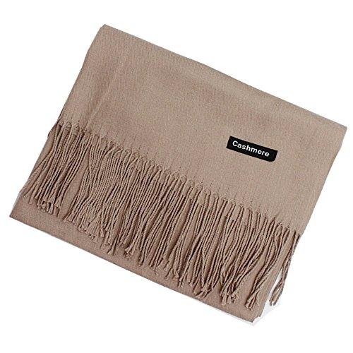 MMYOMI Écharpe Souple en Cachemire100% Super Soft Plaid Solide Pashmina  Emballage Châle Écharpe pour femmes b96751215be