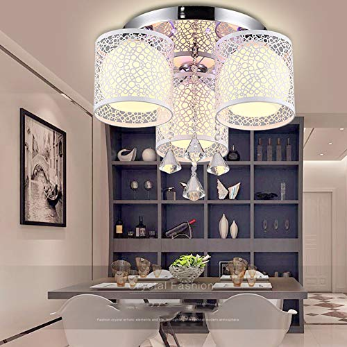 SUNA Moderne télécommande salon lampe led cristal salle de mariage plafond lampe chaude chambre lampe ronde restaurant lustre