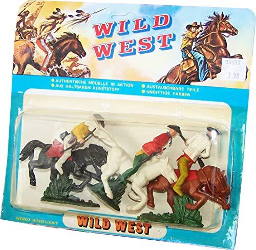 WILD WEST Figurenmodelle (Indianer Vs. Cowboys): 6 Figuren in Blisterverpackung Set 5