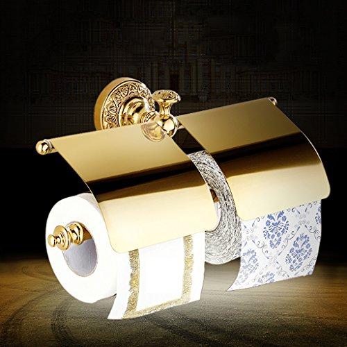 Good moral character Alle Kupfer doppelte Papierhandtuchrolle Toilettenpapierhalter Gold antike europ?ische Toilettenpapier-Ebenen
