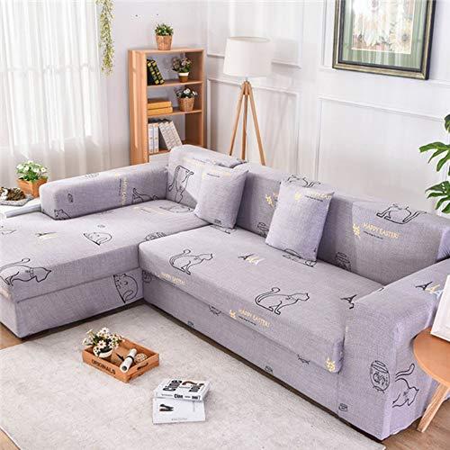 YHCALT Sofabezug 2 Pcs/Set Sofagarnitur Abdeckung Für L-Förmige Sofa Universal Stretch Wohnzimmer Slipcover Elastische Eckcouch Abdeckung Sessel, 90-1 90-1 40 cm 40 cm -