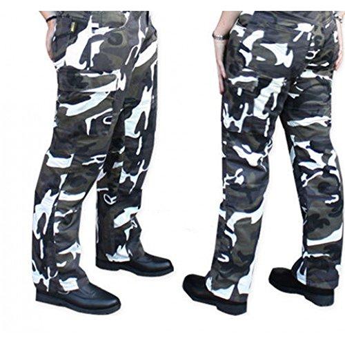 Damen Motorrad-Hose/Cargo-Jeans - Kevlar - Protektoren - Grau Camouflage Gr. 40 - Bein: 32