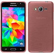 Funda de silicona para Samsung Galaxy Grand Prime - brushed rosa - Cover PhoneNatic Cubierta + protector de pantalla