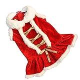 Loveso-Haustier Hunde Kleider Bekleidung Haustier-Kleid des neuen Entwurf netten Weihnachten Sankt-Hündchen-Kleidung (S, Rot)