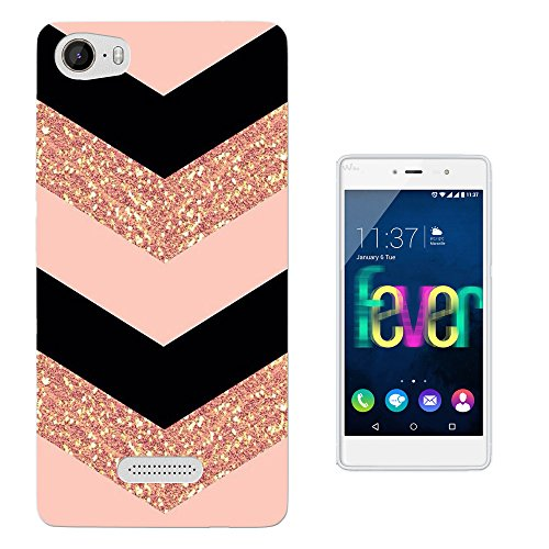 002294 - Chevron Sparkle Zig Zag Girly cool Design Wiko Fever 4G Fashion Trend Protecteur Coque Gel Rubber Silicone protection Case Coque
