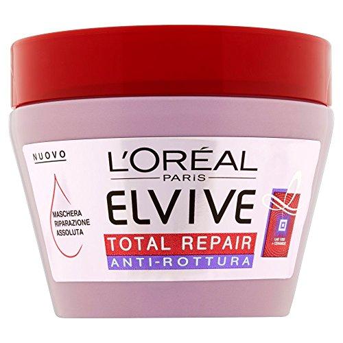 L'Oréal Paris Elvive Total Repair Anti-Rottura Maschera Riparazione per Capelli Danneggiati, 300 ml