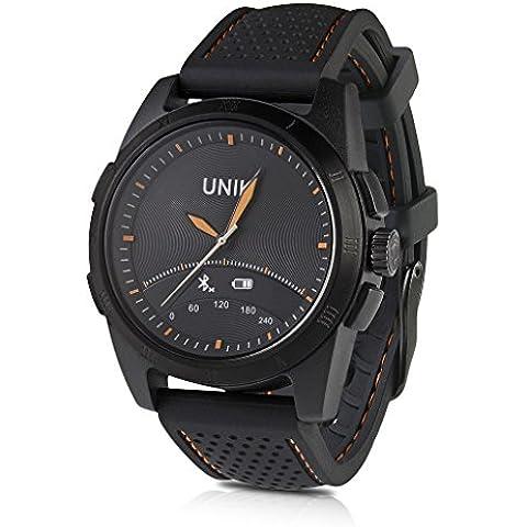 iMacwear unik2 - 5ATM Impermeable Smartwatch Pulsera de Actividad Bluetooth (Sumergible hasta 50M, Podómetro, Minotor de Sueño, Despertador, Ios Android), Negro
