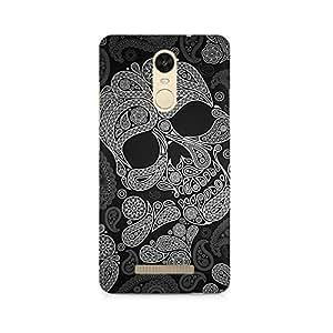 Rayite Paisley Skull Premium Printed Case For Xiaomi Redmi Note 3
