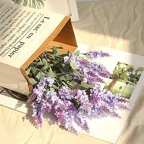 Faux Fleur, Hunpta 1pièce Bouquet artificielle en soie Fleurs de lavande de mariage Jardin Décor floral Cafe violet