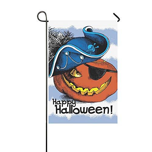 Home Dekorative Outdoor Doppelseitige Halloween Poster Bild Spooky Pumpkin Eyes Garten Flagge, Haus Yard Flagge, Garten Yard Dekorationen, saisonale Willkommen Outdoor Flagge 12 X 18 Zoll Frühling - Piraten Mann Teen Kostüm