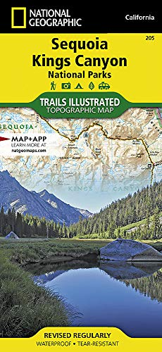 Sequoia / Kings Canyon: National Geographic Trails Illustrated Californien (National Geographic Trails Illustrated Map, Band 205) -