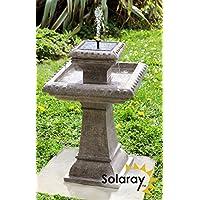 Bain d'Oiseau Pizzaro – Fontaine Solaire Avec Lumières