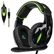 SUPSOO G813 Auriculares para juegos Xbox One PS4 3.5 mm con cable Over-ear Control de volumen del micrófono con aislamiento de ruido para Mac/PC/Laptop/PS4/Xbox one - Negro