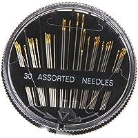 Lyanther 30 unids surtido de agujas de coser a mano bordado de reparación artesanal edredón cosen