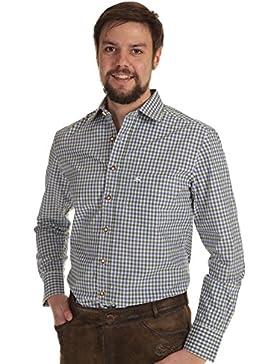 Orbis Trachtenhemd Herren langarm Hemd Herren kariert mit Krempelarm
