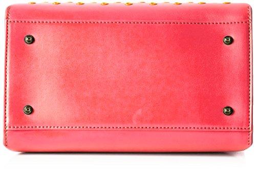 Cavalli - London Eyelets 001, Borsa a spalla Donna Mehrfarbig (Fuxia/Orange)