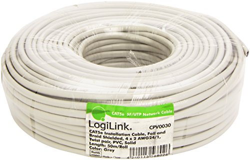 LogiLink CAT 5e Installationkabel SFTP, 50 m (Rollen Cat5e)