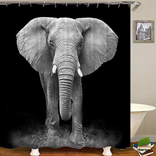 Qsy curtain C-Typ Kunststoff reinem Kupfer Knopf Augenvorhang Duschvorhang wasserdicht, 180x200cm (Knöpfe Duschvorhang)