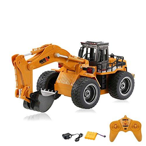 1/14 RC ferngesteuerter XL Radlader Bagger mit 2.4GHz Baustellen-Fahrzeug, 2.4GHz Edition und viele Metallbauteile, 1:14 Ready-To-Drive, Komplett-Set RTR