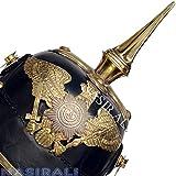 1. Weltkrieg deutsche Preußische Helm Leder Pickelhaube Helm mit Messing Kinnriemen