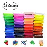 GooedTest DIY Fluffy Slime Kit, 36 Farben DIY Fluffy Schleim Set Knete für Kinder Erwachsene, Entspannung Anti Stress Spielzeug