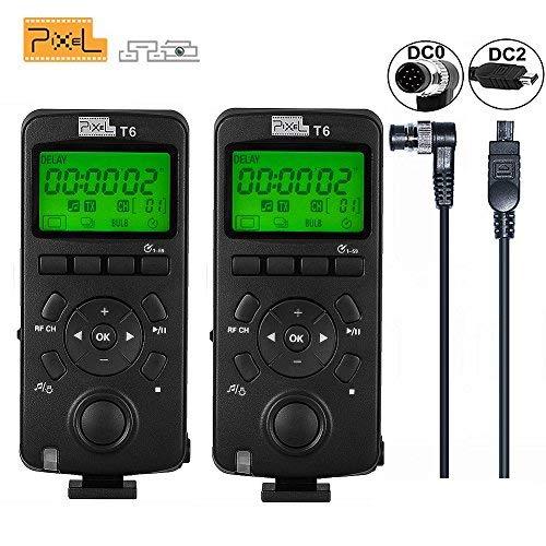 Pixel 2PCS Wireless Shutter Trasmettitore Timer Trasmettitore Telecomando 2.4GHZ per Nikon D800 D700 D300 D2S D800 D7500 D4 D7100 D5000 D3200 D750