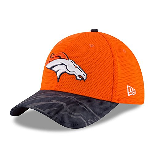 New Era Nfl Sideline 39Thirty Denbro Otc - Cappello Linea Denver Broncos da Uomo, colore Arancione, taglia M-L