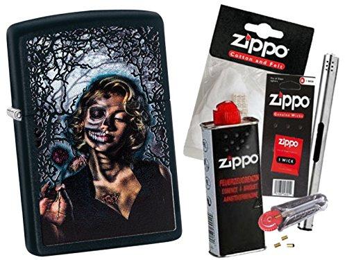 Zippo Goth Girl mit Zippo Zubehör Auswahl und L.B Chrome Stabfeuerzeug (mit Zubehör ()