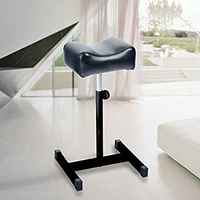 AceFox Foot Rest Stool Telescopic Adjustable Leg Support Chair for Pedicure Manicure Black