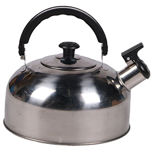 Stainless Steel 2 Litre Stove Top Camping Fishing Cordless Gas Hob Whistling Kettle Pot Kitchen Cookware Kitchenware