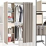 GROSSER Kleiderschrank #897 begehbar offen Garderobe Schrank Regal Schublade NEU