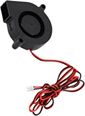 Homyl 2pin 12V 50mm Blower Fan 5015 50mm X15mm Turbo Cooling for 3D Printer