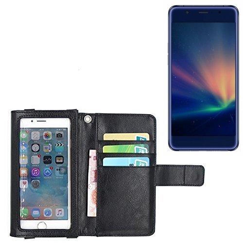 K-S-Trade Für Hisense A2 Pro Schutz Hülle Case mit Displayschutz/Schutzfolie Flip Cover Wallet case Etui Hülle für Hisense A2 Pro schwarz