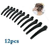 Halicer 12 Stück Haarspange Haar Klammer Combi-Clip Karte Hair-Clips Abteilklammern Hair-Clips Combi aus Kunststoff(12cm)